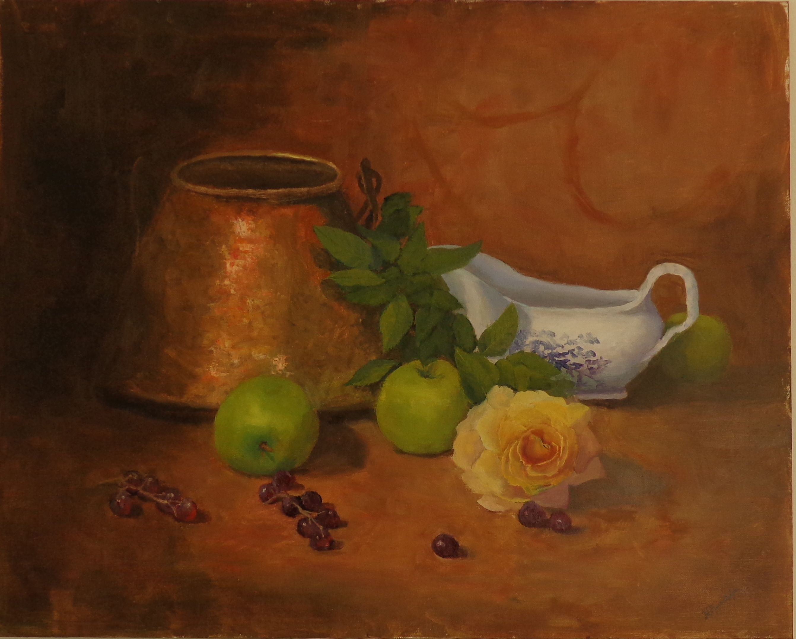 Copper Pot and Rose
